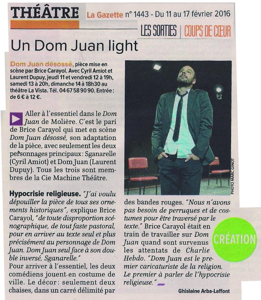 Dom Juan_ La Gazette_11.02.16