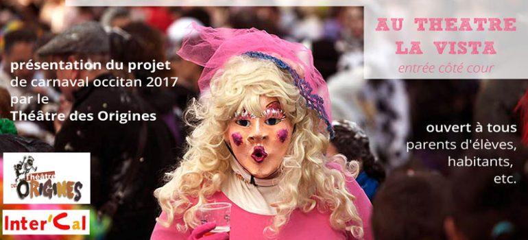 Apéro Carnaval Occitan : présentation du projet – jeudi 10 nov à 18h