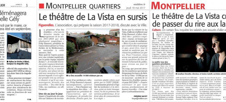 Revue de Presse : L'avenir incertain du Théâtre La Vista