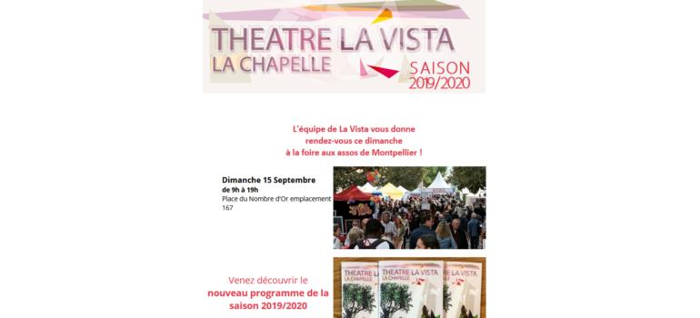 Newsletter du 13/09/19 – Programme de la saison & Foire aux assos