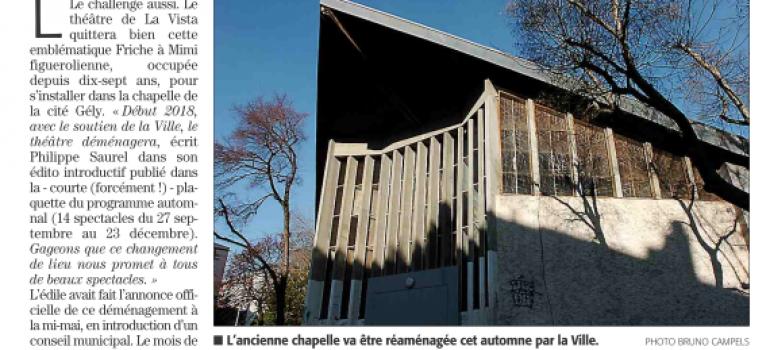 Midi Libre – «La Vista devrait voir l'an neuf du côté de la Chapelle»