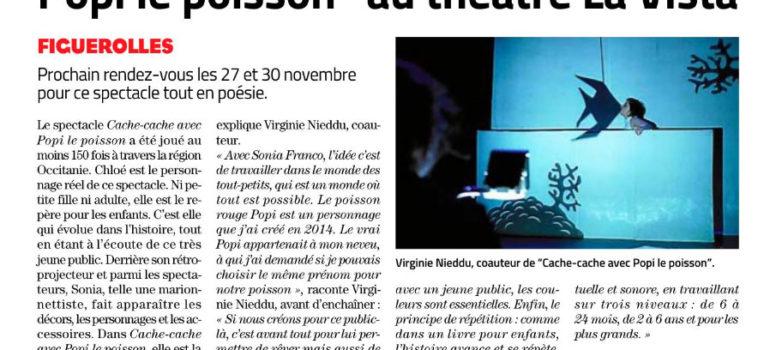 Midi Libre – Figuerolles – 26.11.19 – Popi le Poisson